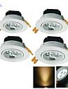 Lampes Encastrees 3 diodes electroluminescentes LED Haute Puissance Decorative Blanc Chaud Blanc Froid 300lm 3000/6000K AC 100-240 AC