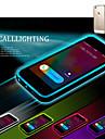 Pentru Carcasă iPhone 5 LED-uri de lumină intermitentă / Transparent Maska Carcasă Spate Maska Culoare solida Moale TPU iPhone SE/5s/5