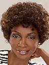 Synthetische Peruecken Locken Stil Kappenlos Peruecke Braun Braun Synthetische Haare Damen Afro-amerikanische Peruecke Braun Peruecke Kurz Halloween Peruecke