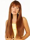 Человеческие волосы без парики Натуральные волосы Прямой Без шапочки-основы Парик / Прямой силуэт