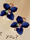 Dame Cercei Stud Cercei Picătură La modă Cristal Placat Auriu Diamante Artificiale Flower Shape Bijuterii Pentru Petrecere Zilnic Casual