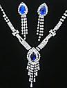 Cristal Franjuri Set bijuterii - Zirconiu Cubic, Argilă Ciucure, Petrecere, Modă Include Galben / Albastru Pentru Petrecere / Ocazie specială / Aniversare / Σκουλαρίκια / Coliere