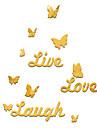 Cuvinte & Citate #D Perete Postituri Acțibilduri de Oglindă Autocolante de Perete Decorative, Vinil Pagina de decorare de perete Decal