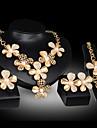 Pentru femei Seturi de bijuterii Imitație de Perle Zirconiu Cubic Placat Auriu Aliaj Floare Floral Stil Floral Draguț Petrecere Flori