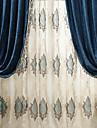 Deux Panneaux Le traitement de fenetre Rustique Moderne Neoclassique , Solide Chambre a coucher Metisse Lin et Polyester MaterielRideaux