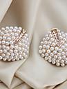 Dame Cercei Stud Cătușe pentru urechi bijuterii de lux costum de bijuterii Perle Cristal Imitație de Perle Placat Auriu Diamante