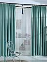 Stångficka Hyls-topp Dubbel veckad Två paneler Fönster Behandling Nyklassisistisk Land Moderna , Tryck Enfärgad Sovrum Polyester Material