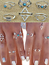 Pentru femei Seturi de bijuterii / Inel / Seturi de inele - Aliaj Iubire Declarație, Personalizat, Vintage 8 Argintiu Pentru Nuntă / Petrecere / Cadou