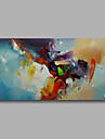 Pictat manual Abstract Orizontal,Modern Un Panou Hang-pictate pictură în ulei For Pagina de decorare