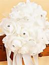 """Flori de Nuntă Rotund Trandafiri Buchete Nuntă Petrecere / Seară Satin Spumă Cristal Ștras 5.91""""(Approx.15cm)"""