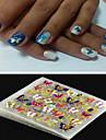 4 Autocollant d\'art de clou Bijoux pour ongles Autocollants 3D pour ongles Punk Maquillage cosmetique Nail Art Design