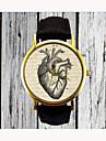 Pentru femei Ceas de Mână Quartz Analog femei Heart Shape Modă - Negru Maro Un an Durată de Viaţă Baterie / Oțel inoxidabil / SSUO 377
