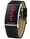 Heren Modieus horloge Japans Digitaal Leer Zwart 30 m Digitaal Informeel - Zwart Een jaar Levensduur Batterij / SSUO CR2025