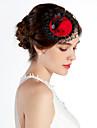 Dantelă Aliaj Palarie Veșminte de cap with Floral 1 buc Nuntă Ocazie specială Casual Birou și carieră În aer liber Diadema