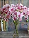 5 Gren Silke Orkidéer Bordsblomma Konstgjorda blommor