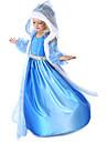 Prinsesse Eventyr Elsa Cosplay Kostumer Jente Film-Cosplay Blå Frakk Kjole Hansker Halloween Nytt År Chiffon