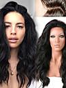 Äkta hår Hel-spets / Spetsfront Peruk Peruanskt hår Löst vågigt / Naturligt vågigt 130% Densitet Naturlig hårlinje / Afro-amerikansk peruk / 100 % handbundet Korta / Mellan / Lång Dam Äkta peruker