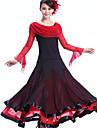 Für den Ballsaal Kleider Damen Leistung Krepp / Milchfieber Drapiert Kleid / Moderner Tanz
