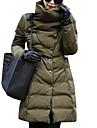 Femei Palton Femei Casual / Plus Size Căptușit Manșon Lung Poliester