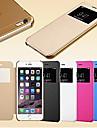 Pour Coque iPhone 5 Avec Ouverture Veille/Deverrouillage Automatique Clapet Depoli Coque Coque Integrale Coque Couleur Pleine Dur Cuir PU