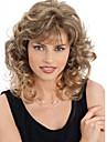 Парики из искусственных волос Волнистый Стиль Без шапочки-основы Парик Блондинка Блондинка Искусственные волосы Жен. Блондинка Парик