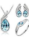 Pentru femei Cristal Set bijuterii - Cristal Aripi de inger Include Galben / Verde / Albastru Pentru Nuntă / Petrecere / Zi de Naștere / Σκουλαρίκια / Coliere / Brățară