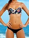 Femei Bikini Femei Cu Susținere Floral Push-up Polyester