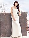 Coloană / Teacă Pătrat Mătura / Trenă Satin Made-To-Measure rochii de mireasa cu Aplică / Pliuri de LAN TING BRIDE®