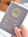 1 pieza Billetera y Cartera Cubierta para Pasaporte Impermeable A prueba de polvo Muy ligero Portable para Almacenamiento para Viaje PVC
