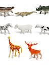 Cavalo Crocodilo Ovelha Zebra Veado Bonecos, Figuras de acao Brinquedos de Montar Animais Simulacao Novidades Desenho Plastico Para