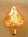 formă de inimă de sârmă dreaptă 40 w e27 220 v ampoule edison de înaltă calitate