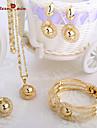 Seturi de bijuterii Vintage Draguț Petrecere Birou Casual Atârnat Aliaj Brățară Colier Σκουλαρίκια Inel