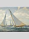 Peinture a l\'huile Hang-peint Peint a la main - Paysage Classique Style europeen Moderne Toile