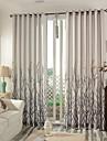 Două Panouri Tratamentul fereastră Modern Dormitor Amestec In / Bumbac Material perdele, draperii Pagina de decorare For Fereastră