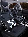 un nou piele complet carouri scaun auto acoperă pernă de protecție interioară auto a scaunului auto originale