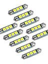 youoklight festoon 36mm 1w 60lm 3x5050 smd 60lm 6000-6500k lumina alba a condus lampă auto bec (12V DC)