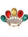 Pentru femei Lux European Pietre sintetice Teracotă Ștras Diamante Artificiale Aliaj Crown Shape Picătură Rosu Verde Curcubeu Bijuterii