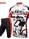 TASDAN Herr Kortärmad Cykeltröja med shorts - Svart Cykel Shorts Tröja Klädesset, 3D Tablett, Snabb tork, Andningsfunktion,