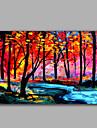 HANDMÅLAD Landskap Horisontell, Moderna Duk Hang målad oljemålning Hem-dekoration En panel