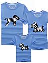 Manșon Scurt Seturi de îmbrăcăminte de familie Manșon Scurt Subțire Vară Micro-elastic Bumbac