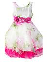 Fata lui Roz Floral Bumbac / Organza Vară / Primăvară Roz