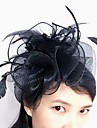 Tulle / Feather / Net Fascinators / Headwear with Floral 1pc Wedding / Special Occasion Headpiece