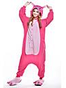 Kigurumi-pyjamas Blått Monster Onesie-pyjamas Kostym Polär Ull Rosa Cosplay För Vuxna Pyjamas med djur Tecknad serie halloween Festival /