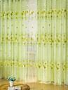 Canal pentru tijă Un Panou Tratamentul fereastră Țara , Imprimeu Sufragerie Poliester Material Sheer Perdele Shades Pagina de decorare