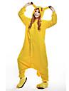 Pyjamas Kigurumi Pika Pika Combinaison de Pyjamas Costume Polaire Jaune Cosplay Pour Adulte Pyjamas Animale Dessin anime Halloween Fete /