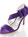 Pentru femei Pantofi Satin Elastic Primăvară / Vară Toc Stilat Flori din Satin Mov / Nuntă / Party & Seară