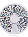 1wheel 3d ovala ab rhinestones nail art diy smycken design dekoration manikyr tips nagel tillbehör