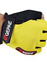 QEPAE Aktivitet/Sport Handskar Cykelhandskar Håller värmen Andningsfunktion Slitsäker Anti-sladd Skyddande Stötsäker Fingerlösa Läder