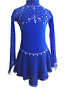 Robe de Patinage Artistique Femme / Fille Patinage Robes Bleu royal Strass Vetements de Plein Air / Utilisation Tenue de Patinage Fait a
