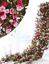 Kunstbloemen 1 Tak Pastoraal Stijl Rozen Bloemen voor op de muur